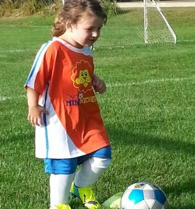 big girl soccer