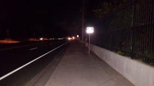 a darkened road